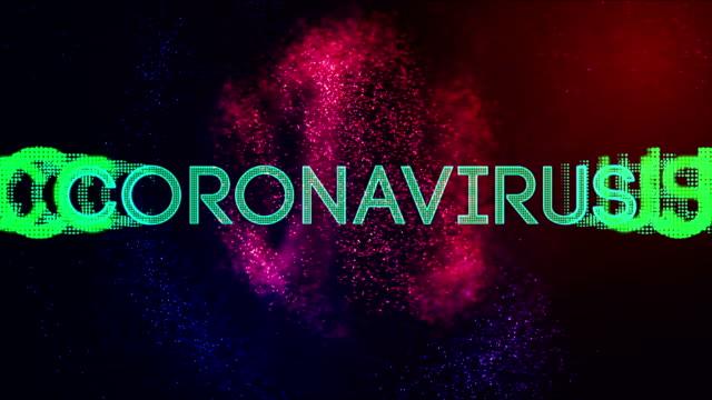 animazione del titolo coronavirus - vettore della malattia video stock e b–roll