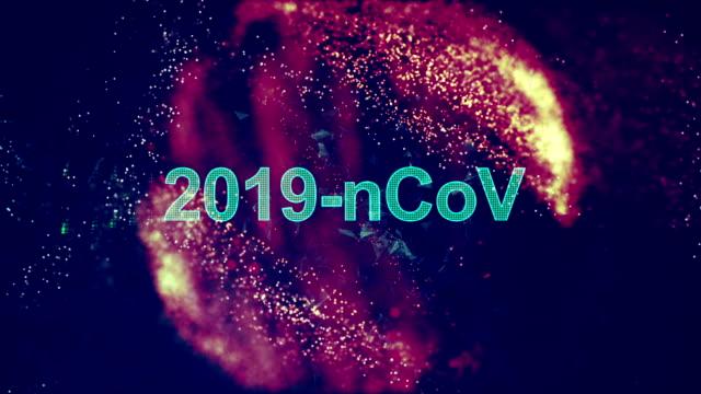 animazione del titolo coronavirus - aggressione video stock e b–roll