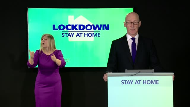 title celebrations by rangers fans condemned; scotland: edinburgh: int john swinney msp press conference sot. - the behaviour of some fans has been... - run down stock videos & royalty-free footage