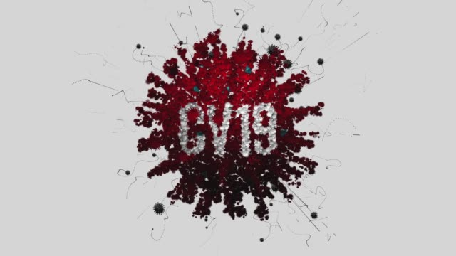 3d coronavirus title cv19 red - large scale screen stock videos & royalty-free footage