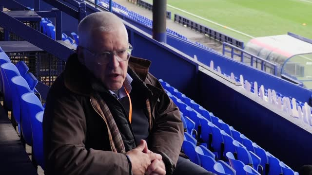 "tranmere rovers chair criticises ""complete lack of leadership"" from fa heads; england: merseyside: birkenhead: prenton park: ext reporter to camera... - plain background stock videos & royalty-free footage"