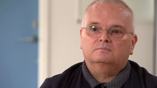two coronavirus survivors speak about their experiences after weeks in intensive care; wales: ?mid glamorgan: merthyr tydfil: int jeff cope interview... - mid wales stock videos & royalty-free footage