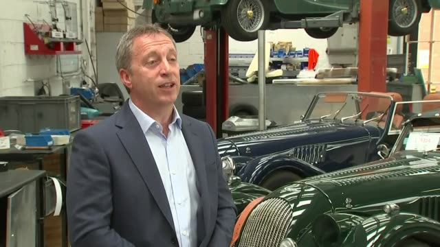uk economy shrinks by 20 per cent uk malvern morgan motor factory production line steve morris interview england worcestershire malvern morgan motor... - factory stock videos & royalty-free footage