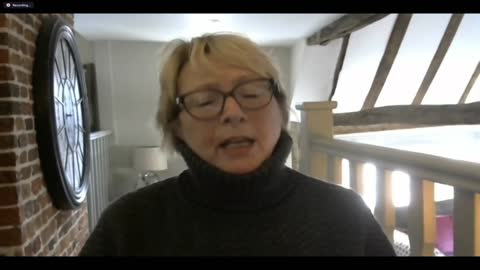 endures record number of daily covid deaths; england: london: gir: int denise burke setup and interview via internet sot cutaway reporter listening - cutaway video transition stock videos & royalty-free footage