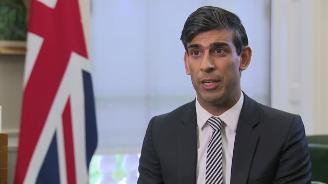 uk workers to receive twothirds of wages if firms forced to close england london int rishi sunak mp interview excerpt sot throughout this entire... - furlough stock videos & royalty-free footage