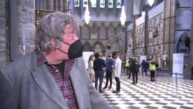 vaccination centre set up in westminster abbey; uk, london; westminster abbey, church, covid-19 coronavirus, vaccine, vaccination centre, medic,... - ローレンス オリビエ点の映像素材/bロール