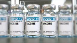 COVID-19 Coronavirus vaccine vials, loopable