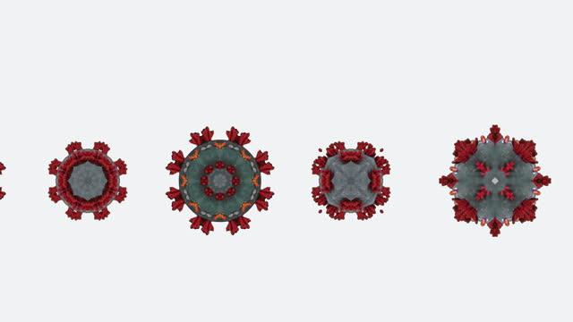 coronavirus variant animation loop keyable on white background element - keyable stock videos & royalty-free footage