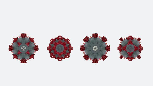 vídeos y material grabado en eventos de stock de coronavirus variant bucle de animación keyable en elemento de fondo blanco - keyable