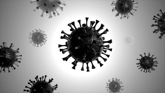 coronavirus - virus closeup in infected organism (loop 4k) - loopable elements stock videos & royalty-free footage