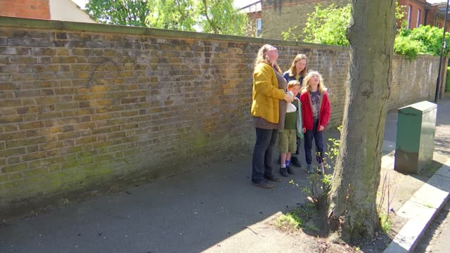 walthamstow teacher marking trees to encourage learning about nature during lockdown uk london interview with forest school teacher rachel summers... - alder tree stock videos & royalty-free footage