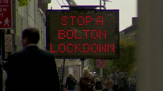 coronavirus warning signs in bolton - road sign stock videos & royalty-free footage