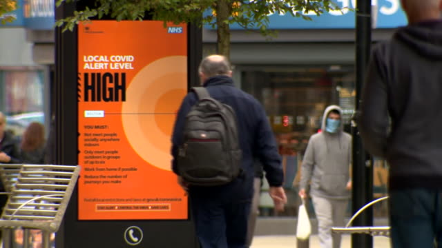 coronavirus warning signs in greater manchester - road sign stock videos & royalty-free footage