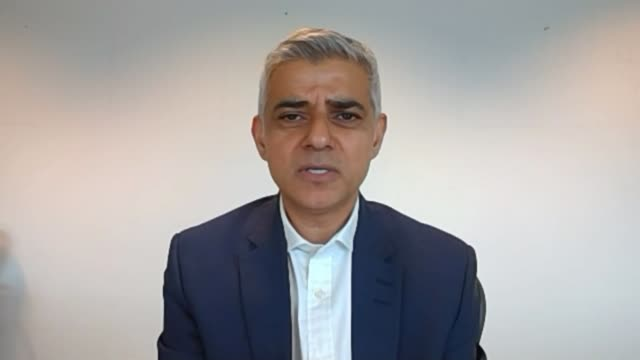wearing a face covering to become compulsory on public transport from 15th june england london int sadiq khan interview via internet sot ext **khan... - sadiq khan stock videos & royalty-free footage