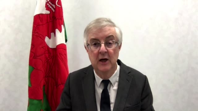 welsh first minister announces travel ban on people travelling from areas of uk with high levels of virus wales int mark drakeford ms interview... - itv evening news stock videos & royalty-free footage