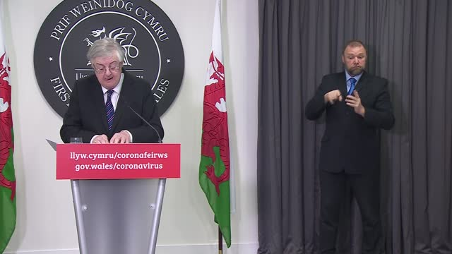 welsh government press conference 12th march 2021; wales: cardiff: int mark drakeford press conference opening statement sot part 3 of 3. - if public... - simplicity stock videos & royalty-free footage
