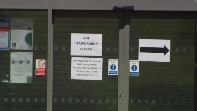 stockvideo's en b-roll-footage met weston general not accepting new admissions after surge in coronavirus patients england somerset westonsupermare ext wide shot of weston general... - new not politics