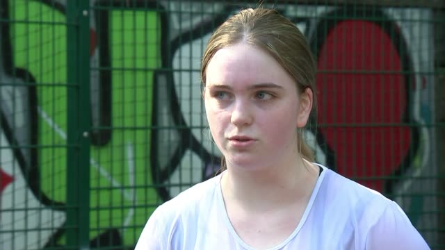 work of pupil referral units during the crisis england london barnet int callum interview sot various of harriet exercising and boxing harriet... - school meal stock videos & royalty-free footage