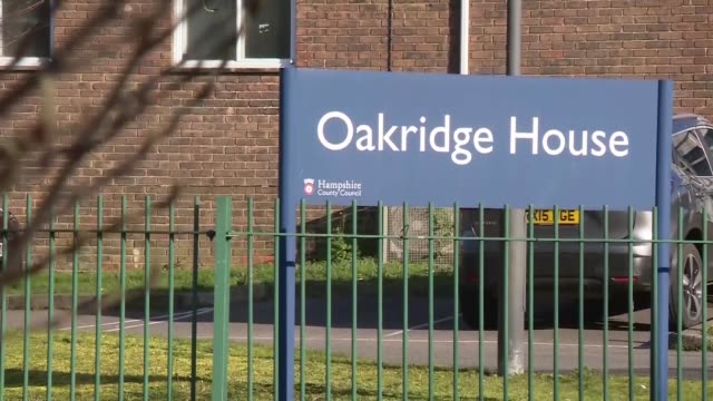 world health organisation officially declares pandemic; uk, hampshire, basingstoke: oakridge house care home gvs and 'closed' sign due to... - organised group stock videos & royalty-free footage
