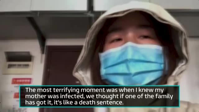 wuhan doctors highlight need for cross-government cooperation in tackling virus; china: int rear view reporter talking to yi bei on skype over... - voip stock videos & royalty-free footage