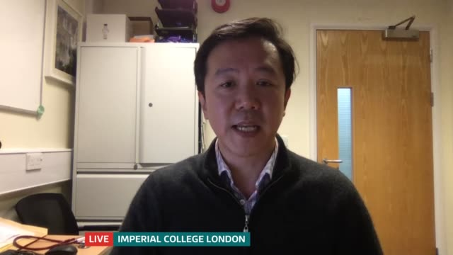 young volunteers to be exposed to covid-19 in uk vaccine trial; england: london: gir: int dr chris chiu live 2-way interview from imperial college... - itv london tonight stock-videos und b-roll-filmmaterial