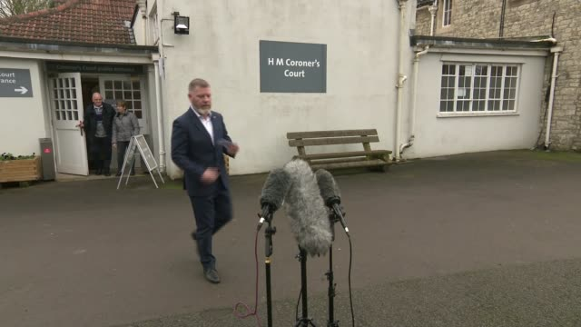 coroner criticises failings in care of cervical cancer patient england somerset flax bourton ext kevin o'connor to mikes outside coroner's court... - inquest stock videos & royalty-free footage