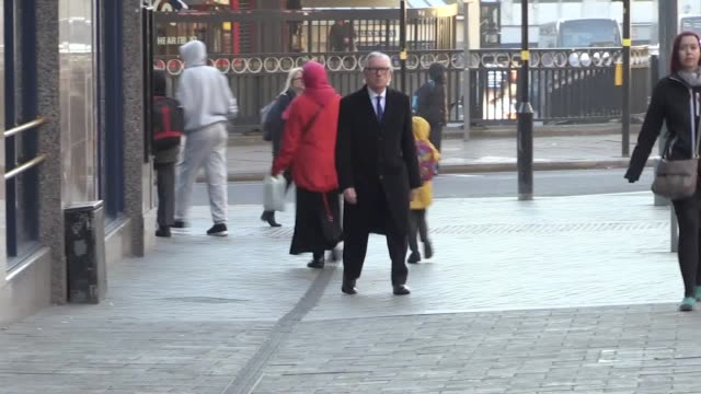 hm coroner peter thornton arrives at birmingham civil justice centre ahead of the inquests into the deaths of 21 people killed in the birmingham pub... - midlands occidentali video stock e b–roll