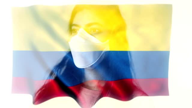 coronovirus 2019-ncov background concept. patience wearing protective mask with ecuadorean (ecuador) flag overlay. - ecuador stock videos & royalty-free footage