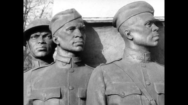 corporal henry johnson and private needham roberts receive french medal of honor / arlington cemetery and grave markers that read: 'samuel... - ww1 battle stock videos & royalty-free footage