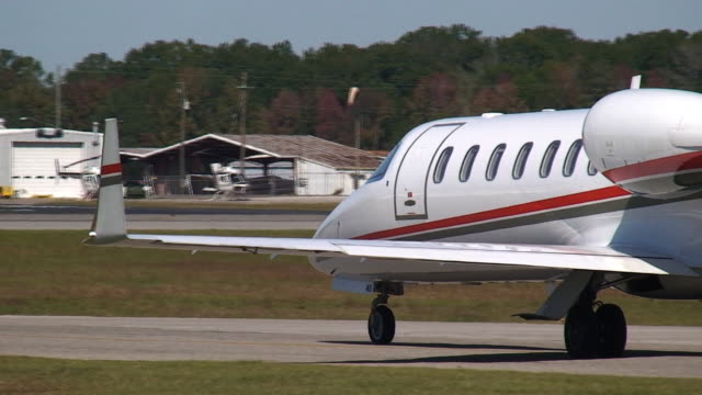 Corporate Jet Taxiing