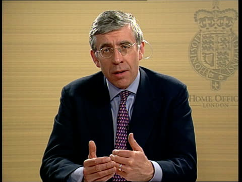 government plans to make prosecution easier bc4n jon england london int jack straw mp interviewed sot why didn't act sooner on corporate killing... - jack straw stock videos & royalty-free footage