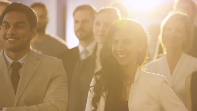 corporate team portrait - bank manager stock videos & royalty-free footage