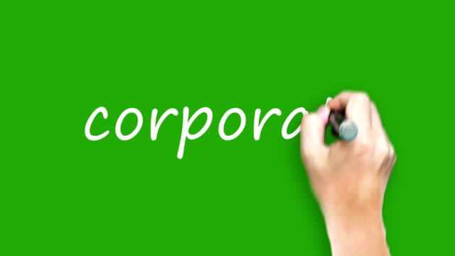 Corporate  - Writing with marker on green screen