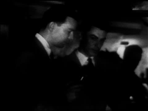 correspondent david brinkley in radar room at washington national airport w/ caa radar expert james richey sot explaining what happened saturday... - 1952 stock videos & royalty-free footage