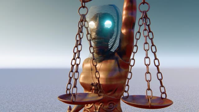 corruption of justice sytem - concept - robot human face stock videos & royalty-free footage