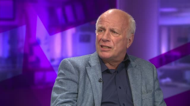 culture secretary comments on world cup england london int greg dyke live studio interview sot - greg dyke stock videos & royalty-free footage