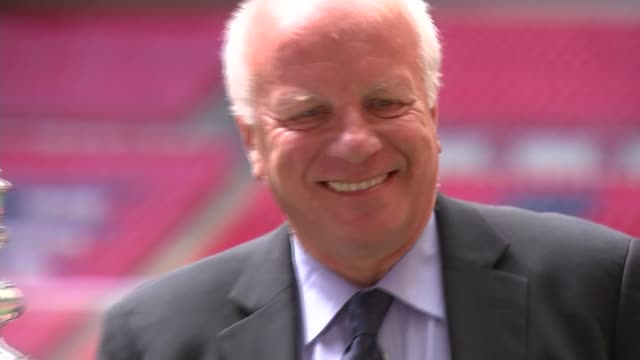 greg dyke calls for reform of fifa lib / t30051514 england london wembley stadium ext greg dyke and sir tim clark posing on pitch with the fa cup - greg dyke stock videos & royalty-free footage