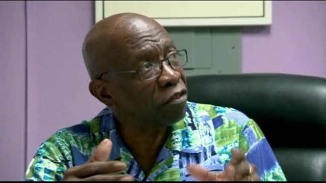 corruption scandal: memo shows jack warner involved in rigging the 2010 world cup; t07061502 / jack warner speaking to reporter in office sot - i'm... - fifa world cup 2010 stock videos & royalty-free footage