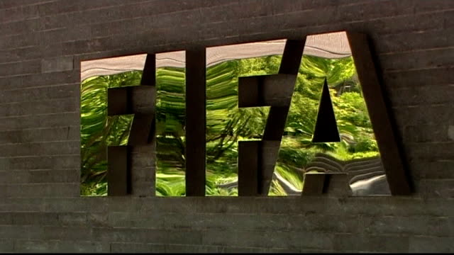 corruption scandal of bribes for votes for fifa presidency; switzerland: zurich: general view of fifa headquarters building close shot of fifa sign... - fifa stock videos & royalty-free footage