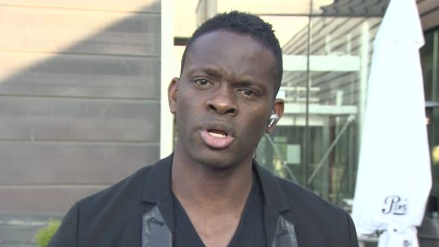 sepp blatter refuses to resign / boycott threat england london gir ext louis saha 2way interview sot - 断る点の映像素材/bロール