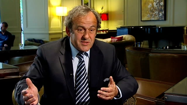corruption scandal: sepp blatter to be investigated; england: int michel platini interview sot - football is like society, you have good guys and bad... - fifa stock videos & royalty-free footage
