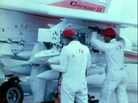 a-7a corsair ii - air to air shot stock videos & royalty-free footage