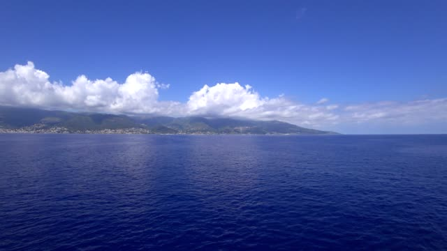 corsica, as seen from the sea. - ferry stock videos & royalty-free footage