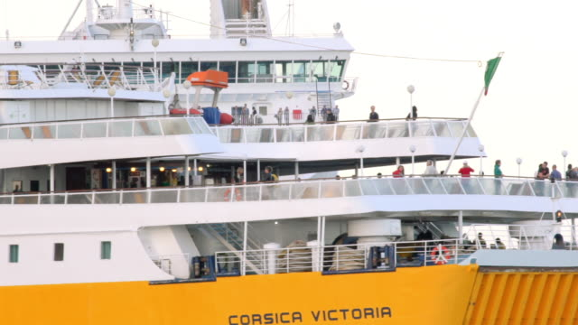 corsica ferry enters ajaccio port - calvi stock videos and b-roll footage