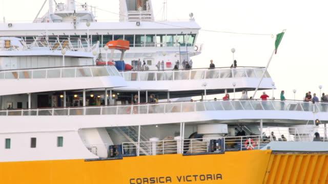 Corsica ferry enters Ajaccio port