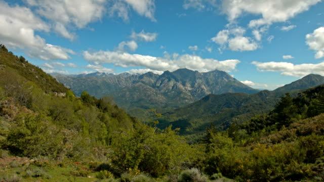 Corsicaanse landschap time-lapse