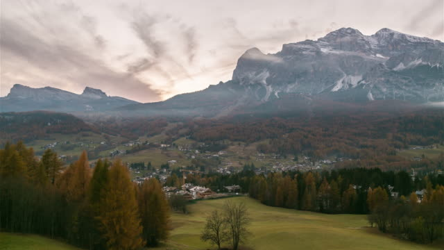 cortina d ampezzo resort, south tyrol ,italy, europe - cortina stock videos & royalty-free footage