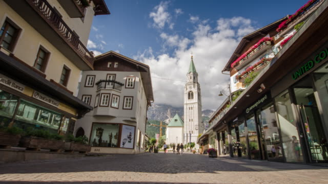 cortina d'ampezzo , dolomites south tyrol italy - cortina stock videos & royalty-free footage