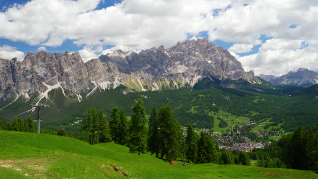 cortina d'ampezzo in the dolomites mountains - cortina stock videos & royalty-free footage
