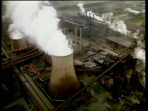 computer firm announce recruitment plans lib wales llanwern views corus steel plant - loss stock videos & royalty-free footage